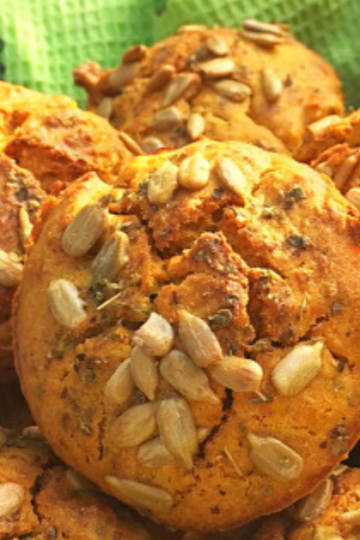 Pumpkin, miso, and wild garlic muffins The Food Zen