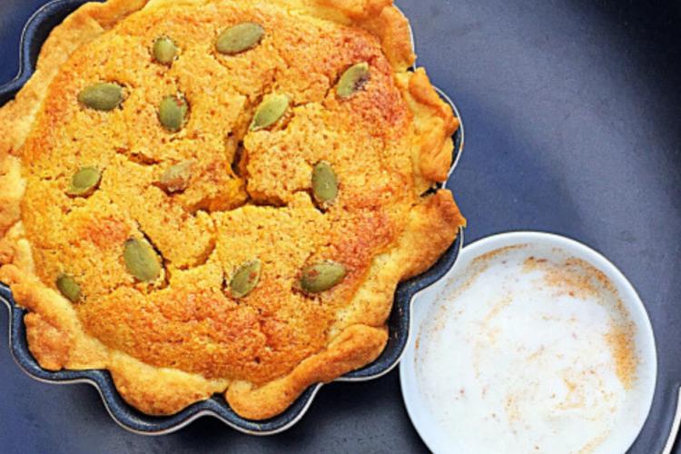 Sour cream pumpkin pie The Food Zen